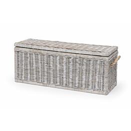 Säilytyslaatikko Leicester 120 x 50 x 44 cm harmaa/valkoinen
