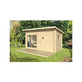 Sauna Polhus Risto 8 m² 4196x2430x2084+1512 mm 70 mm