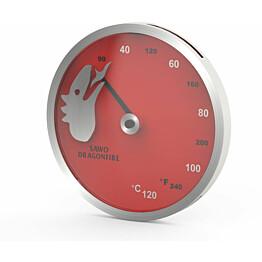 Saunamittari SAWO Firemeter, punainen/teräs