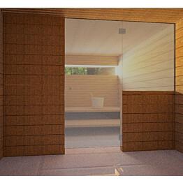 Saunan lasiseinä Vihtan 10 ovi + sivulasi harmaa