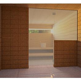 Saunan lasiseinä Vihtan 10 ovi + sivulasi pronssi