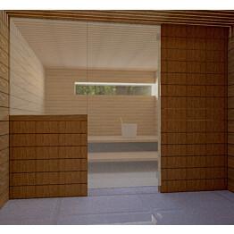 Saunan lasiseinä Vihtan 11 ovi + sivulasi pronssi