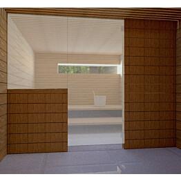 Saunan lasiseinä Vihtan 11 ovi + sivulasi satiini