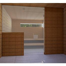 Saunan lasiseinä Vihtan 13 ovi + ylälasi + sivulasi harmaa
