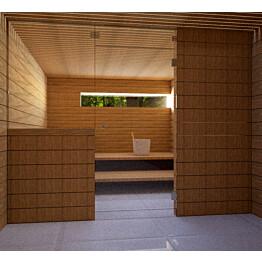 Saunan lasiseinä Vihtan 13 ovi + ylälasi + sivulasi kirkas