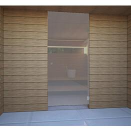Saunan lasiseinä Vihtan 15 ovi + ylälasi harmaa