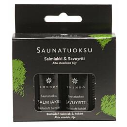 Saunatuoksut emendo salmiakki ja savuyrtti 2x10 ml