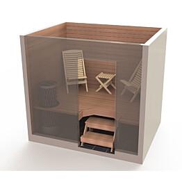 Saunatuolipaketti Saunasella Wood 2xW-120 tuoli + 1xW-10 rahi