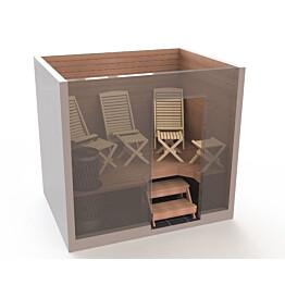 Saunatuolipaketti Saunasella Wood 3xW-120 tuoli + 4xW-10 rahi