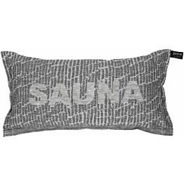 Saunatyyny Jokipiin Pellava Saunatikut, 22x40cm, valkoinen/musta