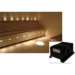 Saunavalaistussarja Cariitti VPAC-1527-L114 5-10 m² + LED-projektori + 11 valokuitua