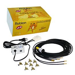 Saunavalaistussarja Roblon Saunasetti 4 LED projektori ja 7+1 kuitua