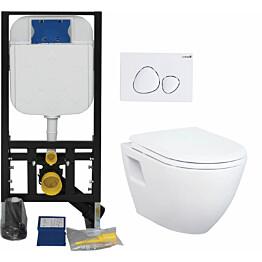 Seinä WC-istuinpaketti Creavit TP 325, täydellinen toimitus