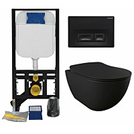 Seinä-WC-paketti Creavit GR50320-D2 musta