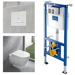Seinä-WC-paketti Villeroy & Boch Subway 2.0 täydellinen