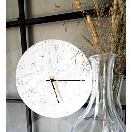 Seinäkello OHTO Nordic Home Lastu Ø25 cm valkoinen/kulta lisäkuva 2