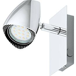 LED-seinävalaisin Corbera 1x3W kromi keinukytkin