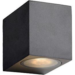 Seinävalaisin Lucide Zora LED kulmikas, GU10, 1x5W, IP44, musta