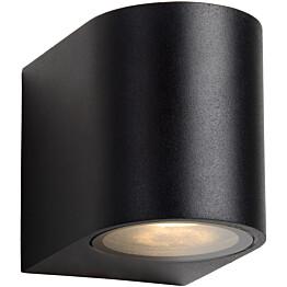 Seinävalaisin Lucide Zora LED pyöreä, GU10, 1x5W, IP44, musta