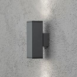 Seinävalaisin Monza 7907-370 65x100x200 mm ylös/alas antrasiitti