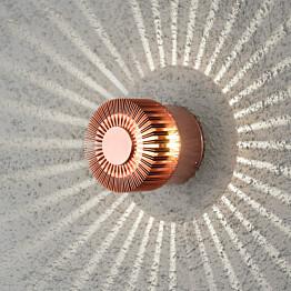 LED-seinävalaisin Monza 7900-900 Ø 90x80 mm kupari