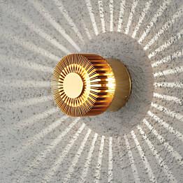 LED-seinävalaisin Monza 7900-800 Ø 90x80 mm messinki