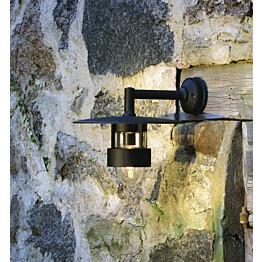 Seinävalaisin 504-750 Freja musta matta alasuunta