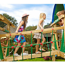 Silta leikkitorniin Jungle Gym Net Link sis. puutavaran