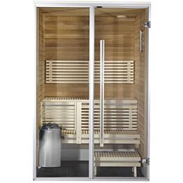 Kylpyhuonesauna Harvia Sirius Formula 1100x1140mm eri materiaaleja lämpökäsitelty panelointi