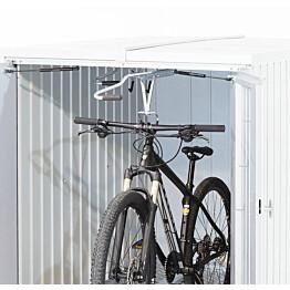 Sisäänvedettävä polkupyöräteline pihavarastoon Biohort MiniGarage