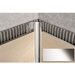Sisäkulmalista Progress Profiles Proshell, 2,7m, 10mm, harjattu rst