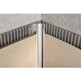 Sisäkulmalista Progress Profiles Proshell, 2,7m, 10mm, kiiltävä rst