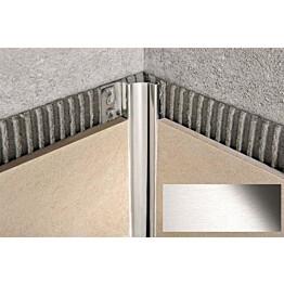 Sisäkulmalista Progress Profiles Proshell, 2,7m, 15mm, harjattu rst