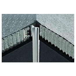 Sisäkulmalista Progress Profiles Proshell ALL 8mm kiiltävä alumiini