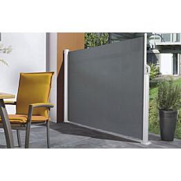 Sivumarkiisi Pisla 1,2x3 m akryyli harmaa/valkoinen
