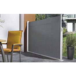 Sivumarkiisi Pisla 1,8x3 m akryyli harmaa/valkoinen