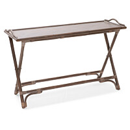 Sivupöytä Lomma 120x45x75 cm kokoontaitettava kuultava harmaa