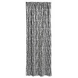 Sivuverho Finlayson Pampula 140x250 cm musta/valkoinen