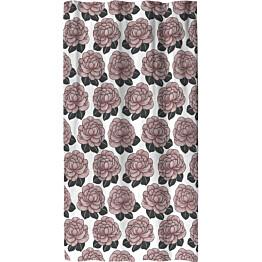 Sivuverho Finlayson Sylvi 140x250 cm valkoinen/roosa
