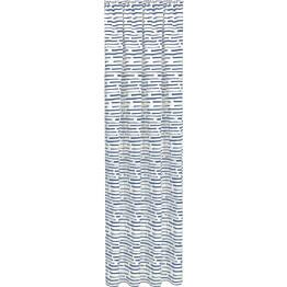 Sivuverho Gerster 140x245 cm graafinen kuvio sininen luomupuuvilla