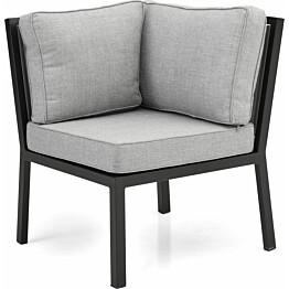 Sohvan kulmamoduuli Bergerac musta/harmaa