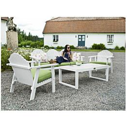 Sohvaryhmä Eivor, pöytä, sohva, 2 tuolia, valkoinen