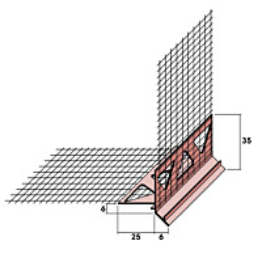 Sokkelilista Fescon verkolla 5 mm