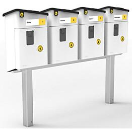 Postilaatikon jalka Stala neljälle PL-2 laatikolle