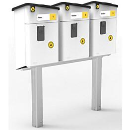 Postilaatikon jalka Stala kolmelle PL-2 laatikolle