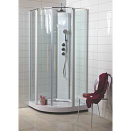 Suihkukaappi Noro Wave 900x900x2090 mm valkoinen/lasi kirkas