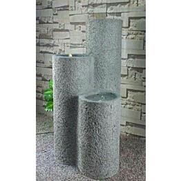 Suihkulähde LED-valoilla Chic Garden Pilarit 100 cm grafiitti