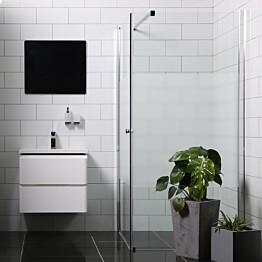 Suihkunurkka Bathlife Mångsidig seinä 900 kirkas + ovi 800 osittain himmeä