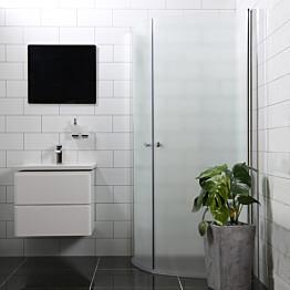 Suihkunurkka Bathlife Mångsidig Vital ovi 700 + ovi 700 kaareva himmeä