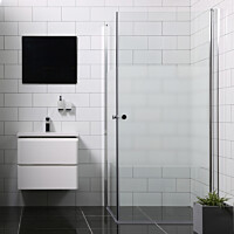 Suihkunurkka Bathlife Mångsidig Vital ovi 800 + ovi 1000 osittain himmeä